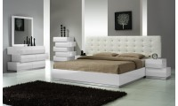 Milan Modern Bedroom Set in White Finish
