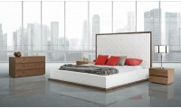 Modrest Beth Modern Bedroom Set in Walnut Finish