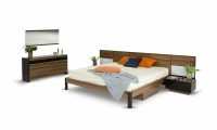 Rondo Contemporary Bedroom Set in Natural Finish Wood