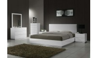 "Naples Modern Bedroom Set in White - USE CODE ""sale"" GET 10% OFF"