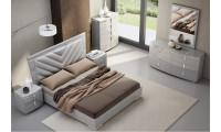 New York Modern Bedroom Set in Grey
