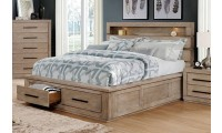 Oakburn Bedroom Set in Light Gray with Bookcase Headboard