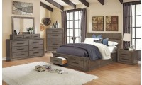 Oakes Bedroom Set in Weathered Warm Gray