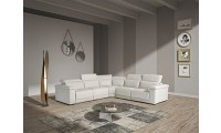 Estro Salotti Palinuro Reclining Sectional Sofa in White Leather