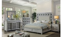 Pantaleon Bedroom Set in Antique Light Gray