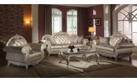 652 Marquee Living Room Set in Pearl Finish