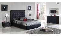 Penelope Bedroom Set in Black Finish by Dupen Spain