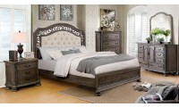 Persephone Bedroom Set in Beige and Rustic Natural Tone