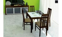 Poker Italian Modern Expandable Squared 5 Piece Dining Set