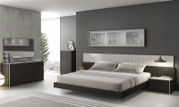 Porto Modern Bedroom Set in Wenge