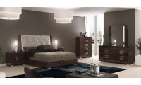 Prestige Deluxe Italian Bedroom Set in Brown Lacquer