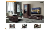 Prestige Brown Glossy Italian Wall Unit TV Stand