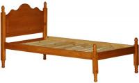 Reston Honey Solid Wood Platform Bed with Storage Option