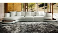 Divani Casa Rodus Sectional Sofa in White Leather