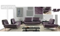 Roxi Purple Italian Leather Sofa Loveseat or Chair Set