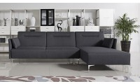 Rixton Modern Sofa Bed Sectional in Grey Fabric