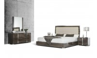 Modrest San Marino Italian Bedroom Set in Grey Lacquer