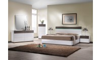 J&M Sanremo B Bedroom Set in Two Tone Finish