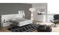 Sara Contemporary Bedroom Set in White Lacquer Finish