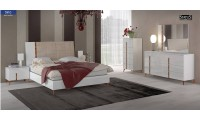 Sirio Modern Italian Bedroom Set in White Finish