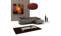 Nicoletti Sparta Mini Sectional Sofa in Grey Leather