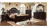 Syracuse Traditional Bedroom Set in Dark Walnut