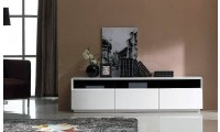 T023 White Gloss Large Modern TV Stand