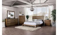 Tolna Modern Bedroom Set in Walnut