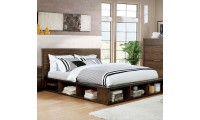 Torino Bedroom Set in Walnut with Bookcase Footboard