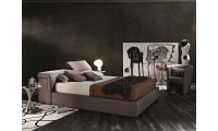 Tower Italian Storage Bed in Taupe