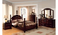 Tuscan II Bedroom Set in Dark Pine Finish