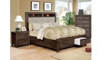 Tywyn Bedroom Set in Dark Oak with Storage Bed