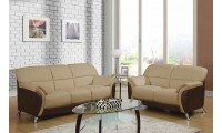 U9103 Living Room Set in Cappuccino and Brown