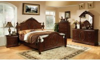 Velda II Bedroom Set in Brown Cherry