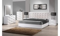 Verona Contemporary White Bedroom Set with Full, Queen or King Bed