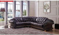 Versace Sectional Sofa in Brown Italian Leather