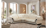 Versace Sectional Sofa in Pearl Italian Leather