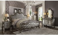 Versailles Bedroom Set in Antique Platinum and Silver