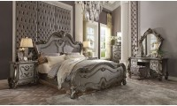 Versailles Antique Platinum Traditional Bedroom Set