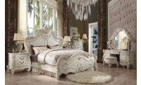 Versailles Traditional Bedroom Set in Bone White Finish