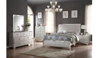 Voeville II Bedroom Set in Platinum Finish