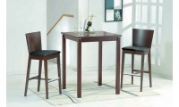 Cafe 411 Walnut Square Bar Table & Stools Set