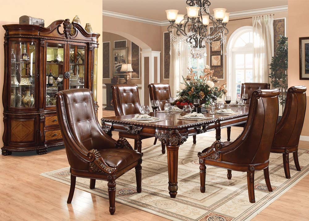 Remarkable Winfred Traditional Dining Room Set In Cherry Gmtry Best Dining Table And Chair Ideas Images Gmtryco