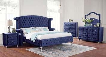 Alzir Blue Bedroom Set