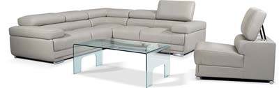 2119 Sectional Sofa in Grey