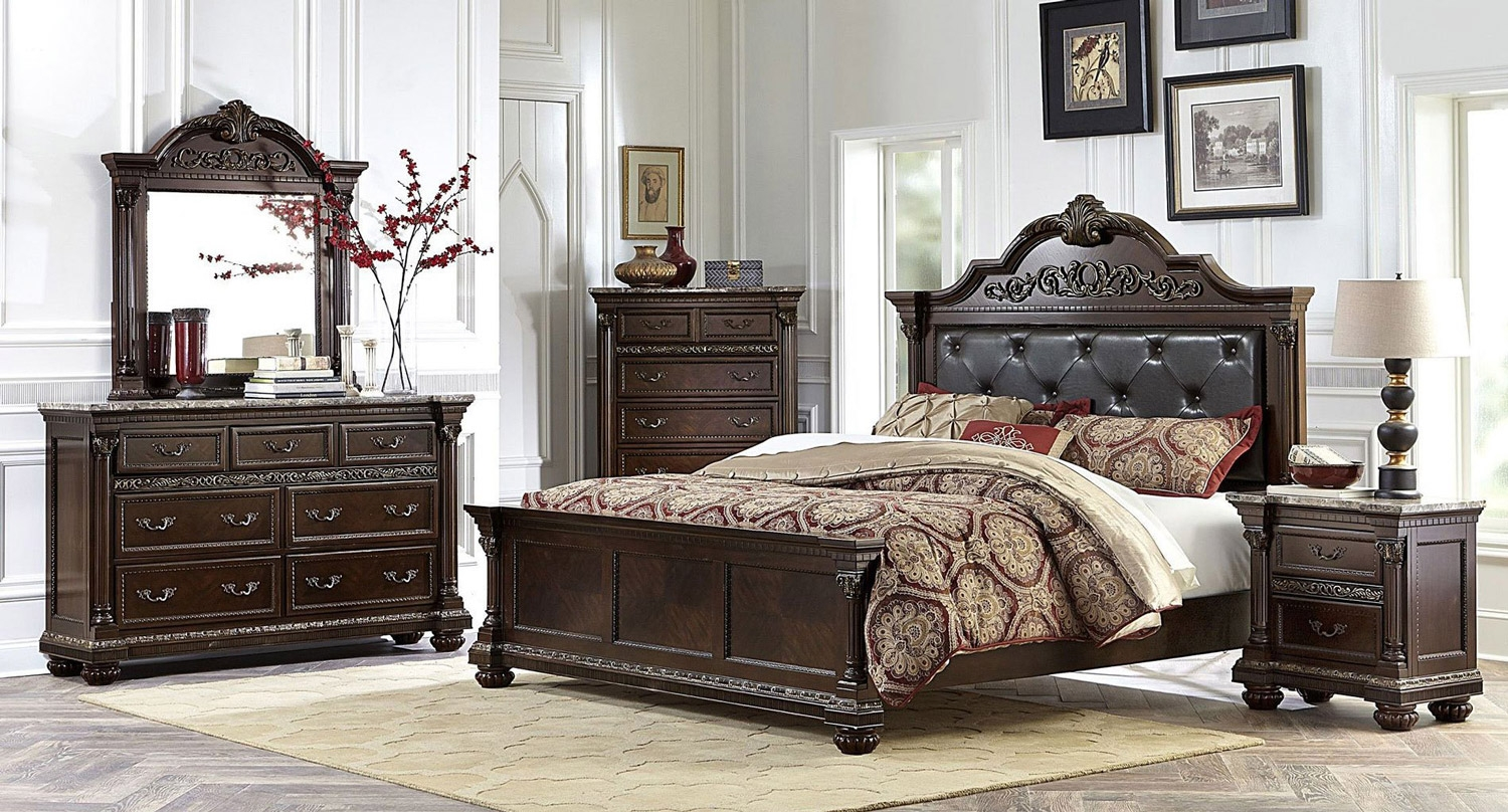 Old Traditional Cherry Bedroom Set